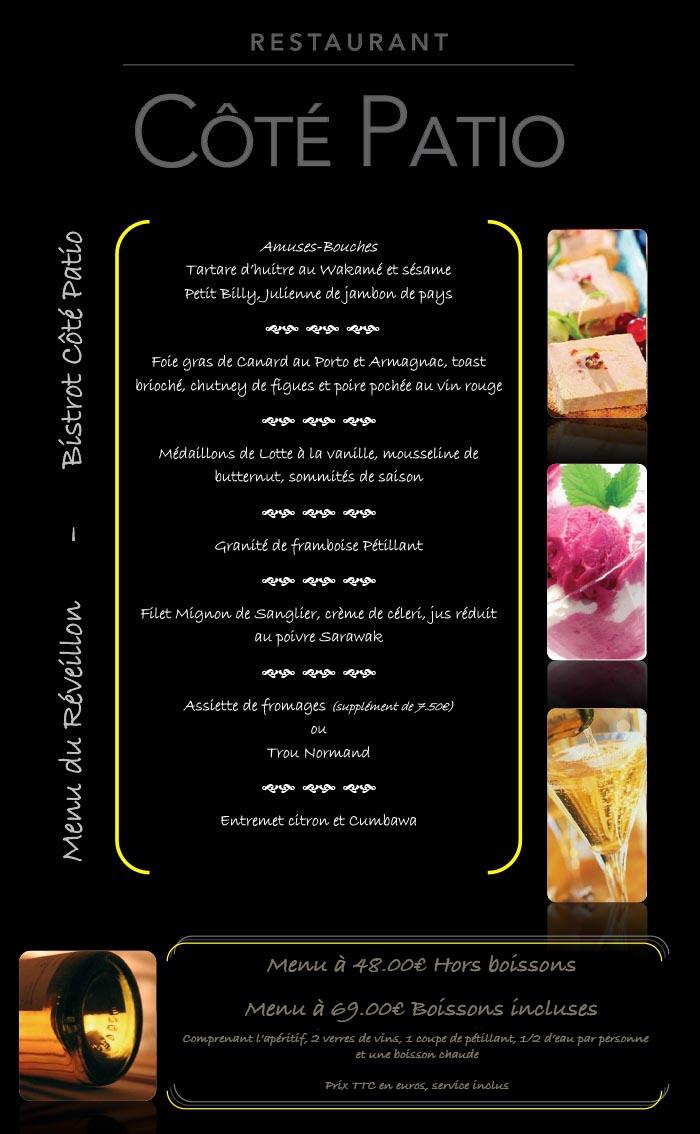 Restaurant Menu St Sylvestre Cote D Or