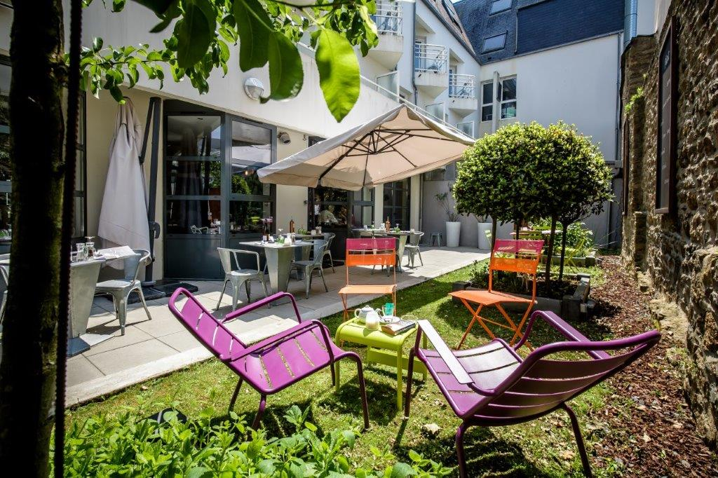 Terrace and garden in the heart of Vannes